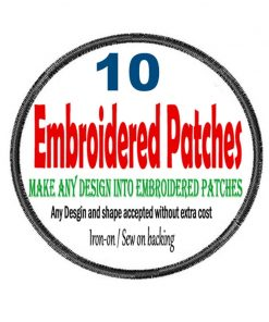 10 Custom Embroidered Patches