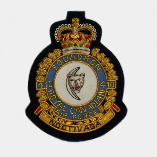410 Tactical Fighter Squadron Blazer Badge - (RCAF)