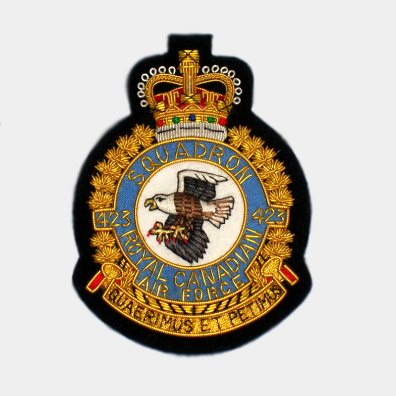 423 Squadron Blazer Badge – Eagle Canadian Patches - RCAF