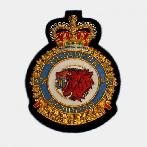 439 Fighter Bomber Squadron Blazer badge – Royal Canadian Air Force (RCAF)