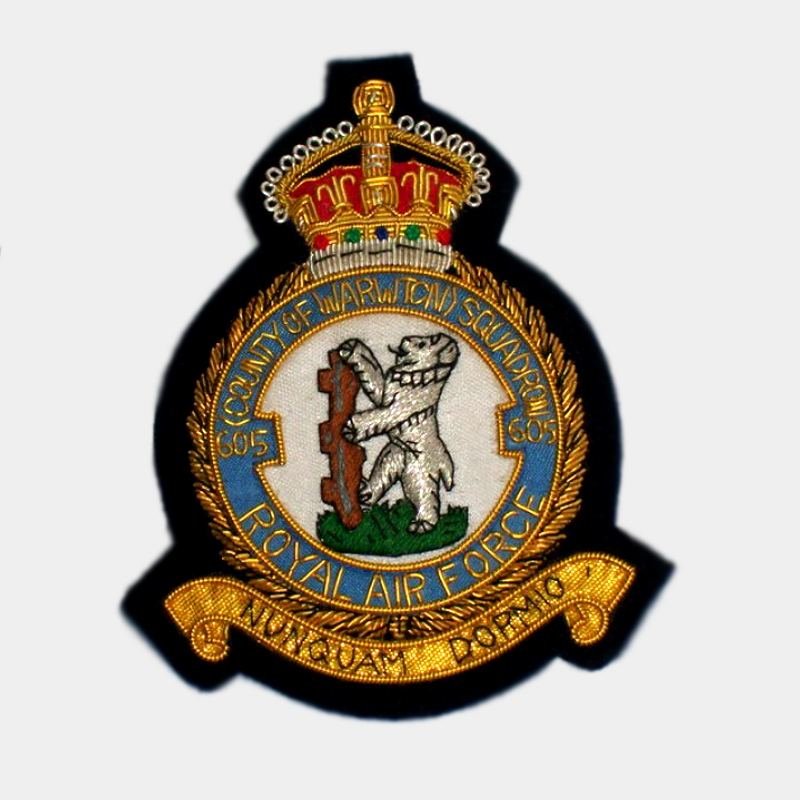 Militaria Royal Canadian Air Force 421 Squadron Badge patch Collectibles