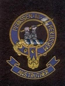 Anstruther clan crest badge - Priissem Ni Periissem