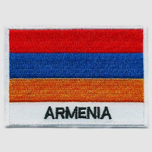 Armenia embroidered patches - country flag Armenia patches / iron on badges