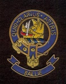 Baillie clan crest badge - Quid Clarius Astris Scottish Clan