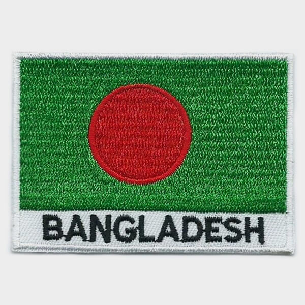 Bangladesh embroidered patches - country flag Bangladesh patches / iron on badges