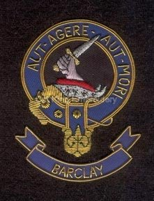 Barclay clan crest badge - Aut Agere Aut Mori