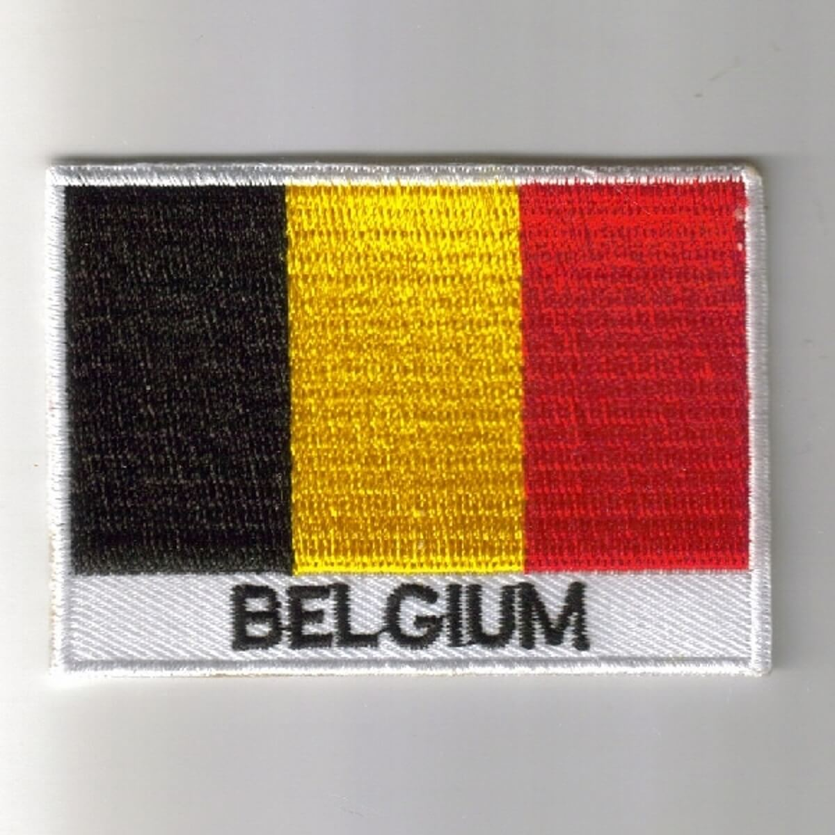 Belgium embroidered patches - Country flag Belgium patches / iron on badges