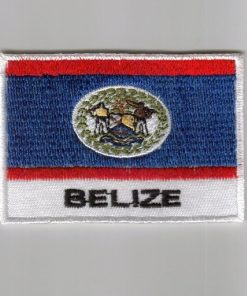Belize embroidered patches - country flag Belize patches / iron on badges