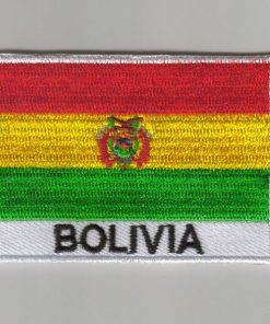 Bolivia embroidered patches - Country flag Bolivia patches / iron on badges
