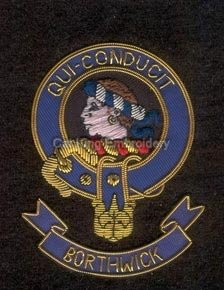 Borthwick clan crest badge - Qui Conducit