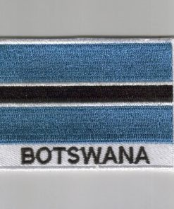 Botswana embroidered patches - country flag Botswana patches / iron on badges