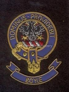 Boyle clan crest badge - Domminus Proviebit