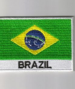 Brazil embroidered patches - country flag Brazil patches / iron Brazil on badges
