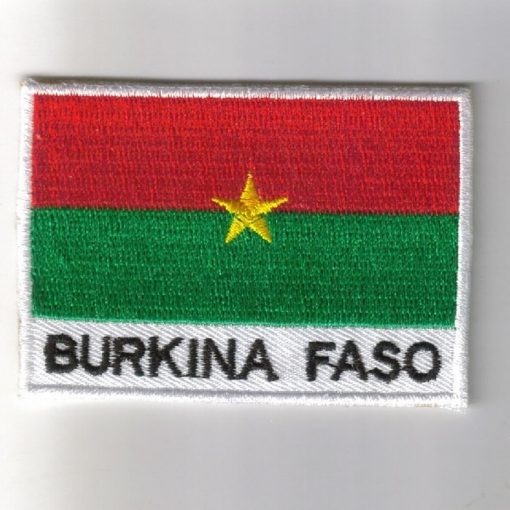 Burkina embroidered patches - country flag Burkina patches / iron Burkina on badges