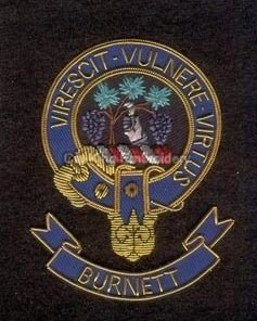 Burnett clan crest - Embroidered badge