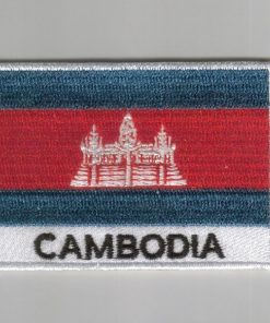 Cambodia embroidered patches - country flag Cambodia patches / iron Cambodia on badges