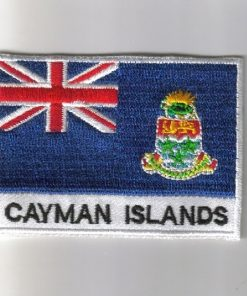 Cayman-Islands embroidered patches - country flag Cayman-Islands patches / iron on badges
