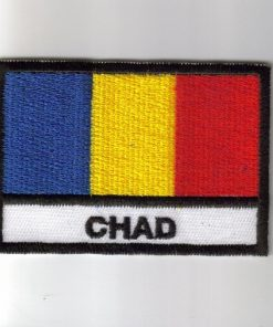 Chad embroidered patches - country flag Chad patches / iron on badges