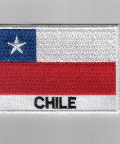 Chile embroidered patches - country flag Chile patches / iron on badges