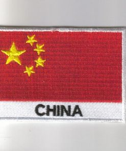 China embroidered patches - country flag China patches / iron on badges