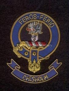 Chisholm clan crest badge - Feros Ferio