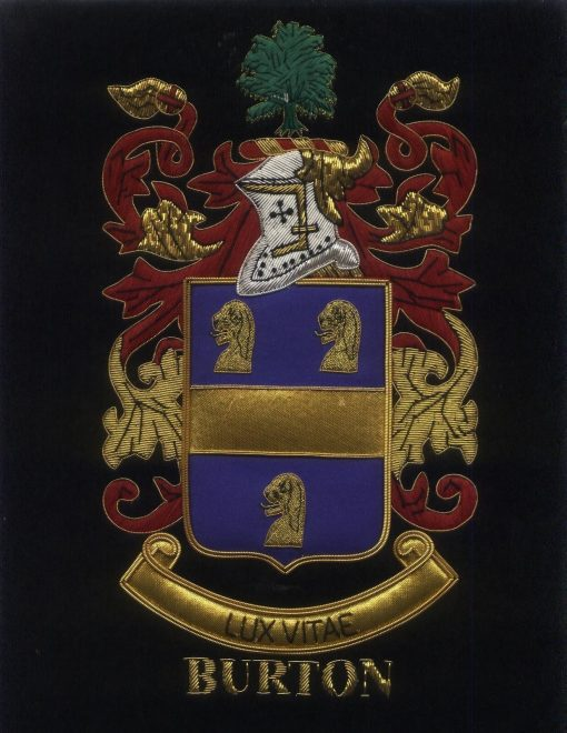 Burton Family Crest /  Burton Coat of arms