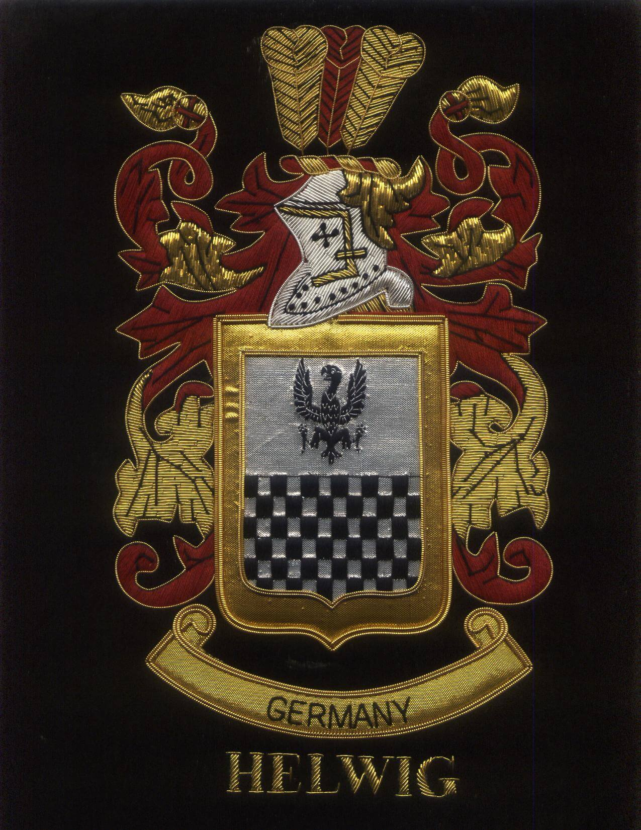Helwig Family Crest /  Helwig Coat of arms