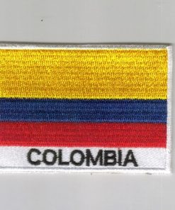 Colombia embroidered patches - country flag Colombia patches / iron on badges