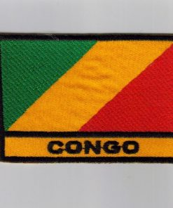 Congo embroidered patches - country flag Congo patches / iron on badges