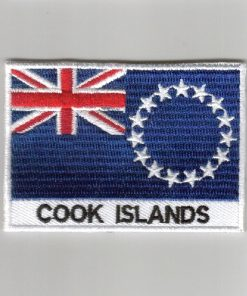 Cook-Islands embroidered patches - country flag Cook-Islands patches / iron on badges