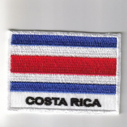 Costa embroider patches - country flag Costa patches / iron on badges