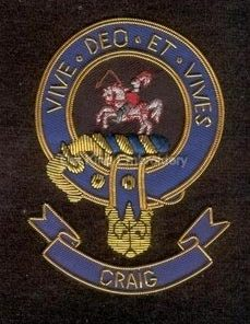 Craig clan crest badge - Vive Deo Et Vives