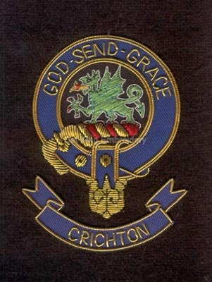 Crichton clan crest badge - God Send Grace