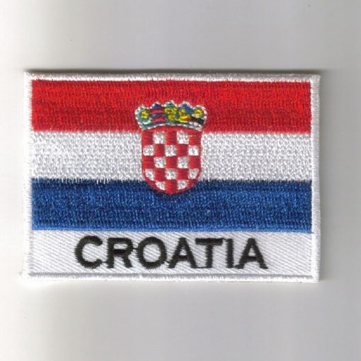 Croatia embroidered patches - country flag Croatia patches / iron on badges