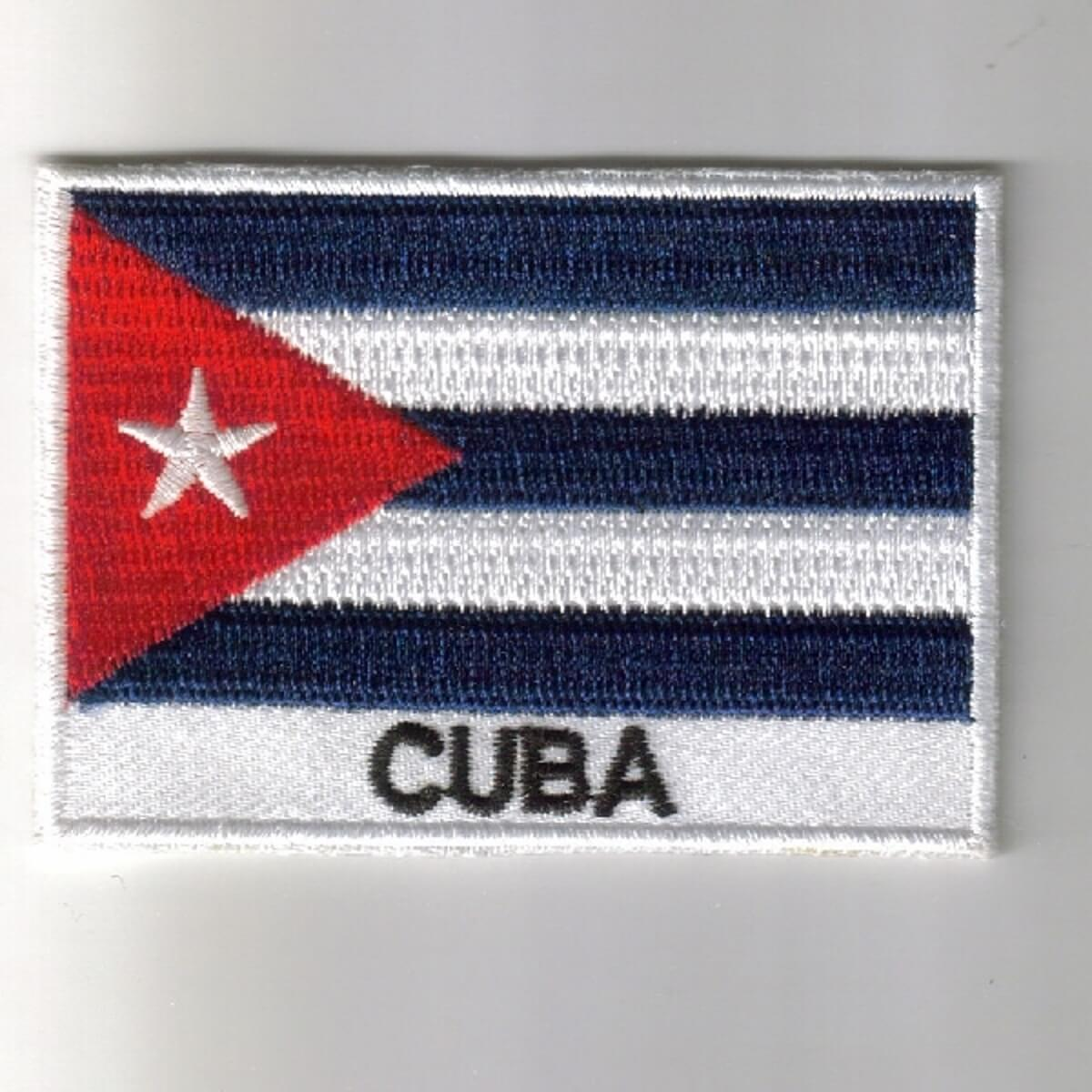 Cuba embroidered patches - country flag Cuba patches / iron on badges