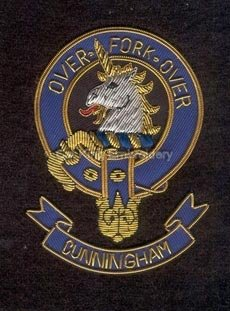 Cunningham clans crest badge - Over Fork Over