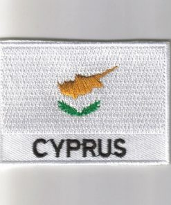 Cyprus embroidered patches - country flag Cyprus patches / iron on badges
