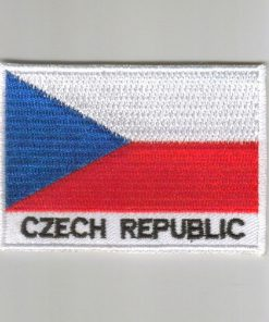 Czech-republic embroidered patches - country flag Czech-republic patches / iron on badges