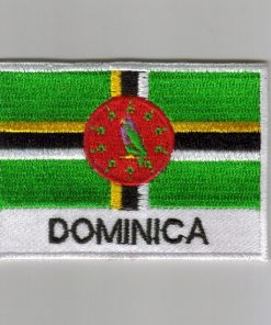 Dominica embroidered patches - country flag Dominica patches / iron on badges