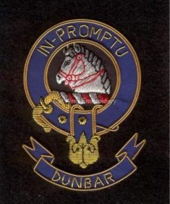 Dunbar clan crest - Embroidered badge
