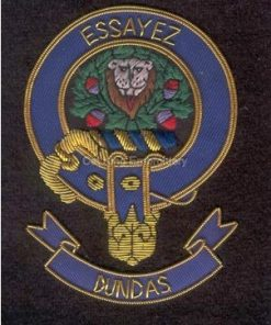 Dundas clan crest - Embroidered badge