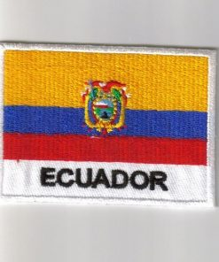 Ecuador embroidered patches - country flag Ecuador patches / iron on badges