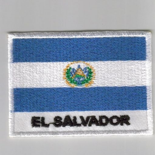 El-Salvador embroidered patches - country flag El-Salvador patches / iron on badges