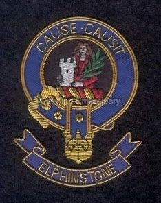 Elphinstone clan crest badge- Cause Causit