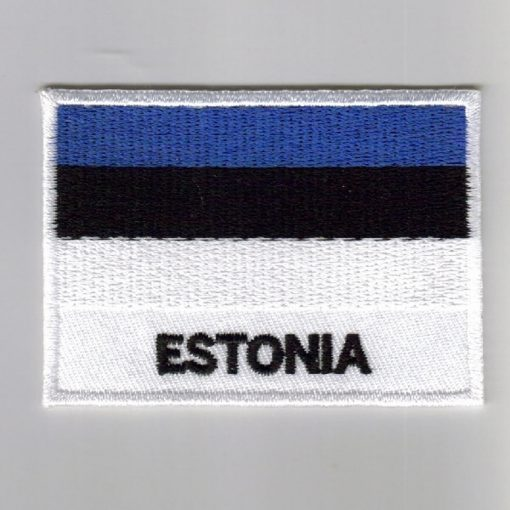 Estonia embroidered patches - country flag Estonia patches / iron on badges