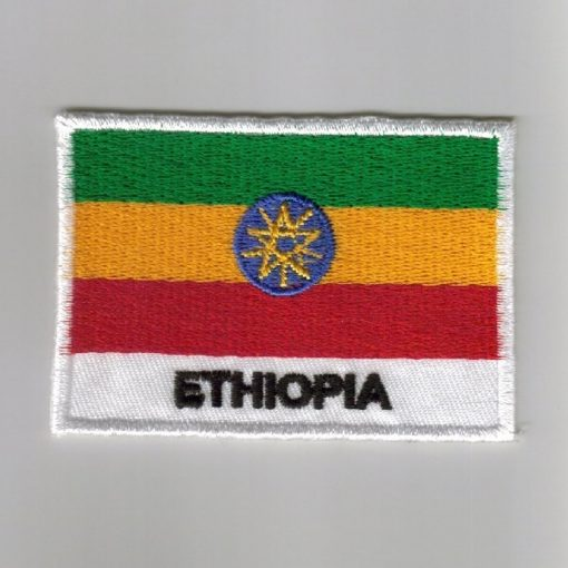 Ethiopia embroidered patches - country flag Ethiopia patches / iron on badges