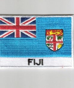 Fiji embroidered patches - country flag Fiji patches / iron on badges
