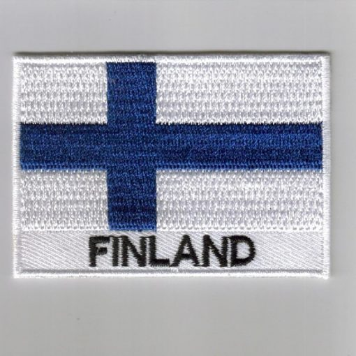 Finland embroidered patches - country flag Finland patches / iron on badges