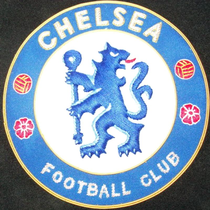 chelsea football club badge hand embroidered bullion wire blazer patch