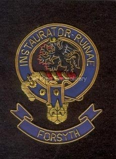 Forsyth clan crest badge- Instaurator Ruinae